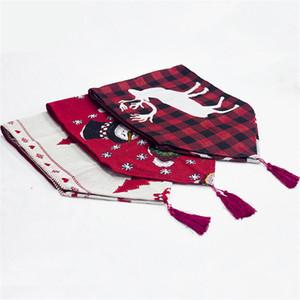 Table de Noël décoratif Elk Runner Buffalo Vérifiez Tablecloth avec pompons de Noël Accueil Fête Décorations de mariage JK1910PH