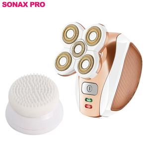 SONAX PRO Frau Shaver USB aufladbare Fünf-Head Floating-Haarentfernung Rasieren Friseur Gesichtsbürste