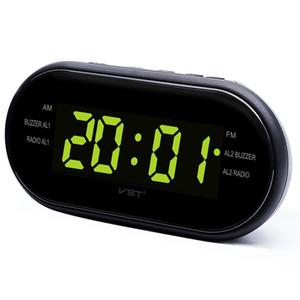 Réveil numérique LED Radio AM / FM avec double alarme Sommeil Snooze Sortie de sortie alimenté Affichage à grand chiffre pour chambre à coucher