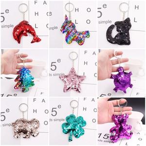 Nette Katze Pailletten Einhorn Keychain Reflektierende Tierform Autoschlüssel Ring Mode Frauen Schlüssel Schnalle Für Parteibevorzugung 1 26bm E1