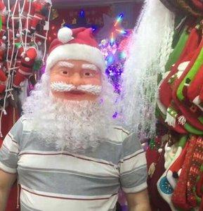 Santa Claus Máscara de la mascarada de la Navidad del partido de Cosplay Víspera de Vestir la cara llena de máscaras suaves de Navidad juguete GGA2897-1
