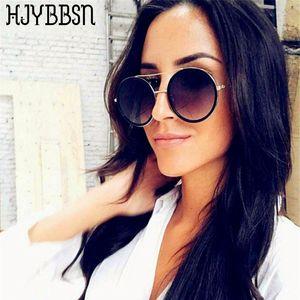 HJYBBSN Retro Round Sunglasses Women Designer Sunglasses Women 2020 High Quality Fashion Cute Circle Round Glasses Metal Frame