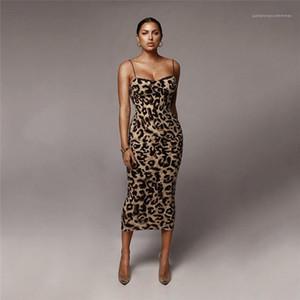 Elbise Leopar BODYCON modelleri kısa kollu Yaz Kadın Mürettebat Boyun Genç Giyim Kadınlar dayly Aşınma Tasarımcı Pencil Womens