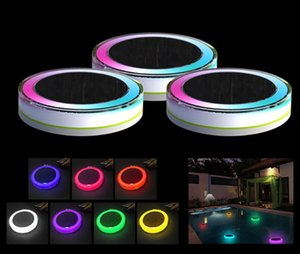 Outdoor Swimming Pool Underwater Colorful Light Waterproof Solar Led Pool Lamp Outdoor Solar Water Drift Lights Wedding Party