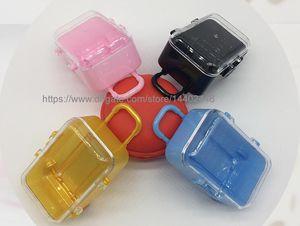 50 stücke Mini Rolling Reise Koffer Hochzeit Party Favor Box Kunststoff Candy Boxes Geschenkbox Paket Kostenloser Versand