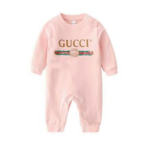 높은 품질의 패션 2020 NEW 아기 의류는 귀여운 100 %면 신생아 유아 아기 소년과 소녀 편지 뛰어 돌아 다니는 설정
