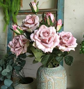NUEVA seda hermosas rosas rama de la flor artificial de la decoración de la boda de flores color de rosa Flores Artificiales Flores falsas 11pcs / lot