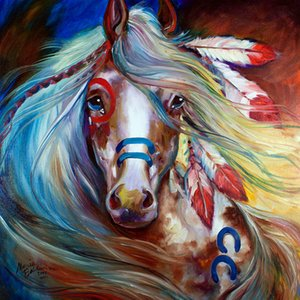 Destemido War Horse Marcia Baldwin Home Decor pintado à mão HD impressão pintura a óleo sobre tela Wall Art Canvas Pictures 19