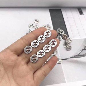 2020 Vintage-reale 925 Sterlingsilber-Kreis Designer-Ohrringe am besten Geschenk für Frauen und Männer Luxuxschmucksachen Ohrring-Rückkanal