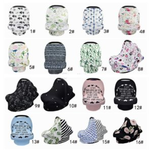 31 styles Cotton Baby Nursing Cover Breast Feeding Scarf multifunctional stroller cover Privacy Cover car seat canopy YYA19-1