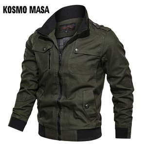 's Clothing KOSMO MASA Cotton Bomber Jacket Windbreaker Army Military 2019 Spring Autumn Casual Men's Coats And Jackets For Men MJ0087