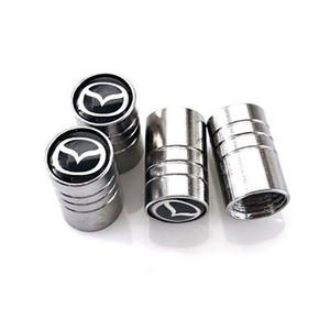 4pcs metal pneu de carro tampa de válvula do pneu da roda Air Hastes Covers Car Logo Distintivos emblemas para Mazda 3 6 CX-5 2 acessórios carros