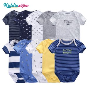 2020 5PCS / Lot мальчиков Одежда Bodysuits Unicorn 100% хлопка для девочек Одежда для новорожденных младенцев Одежда для девочек Roupas де 0-12M