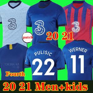 تايلاند WERNER كانتي لكرة القدم جيرسي 20 21 ABRAHAM PULISIC 2019 2020 MOUNT ZIYECH Camiseta دي قميص كرة القدم للرجال + الاطفال كأس الرابع 4