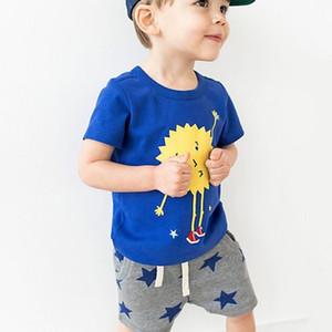 Maglietta per bambini in cotone 2019 per bambini di piccola marca maven vestiti estivi per bambini maglietta in cotone + pantaloncini con stampa a stella