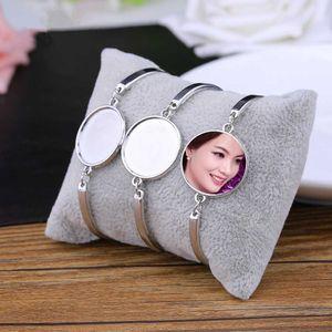 pulseras de sublimación en blanco para impresión de transferencia de calor brazalete de joyería de moda mujer consumibles bricolaje Nueva arrvial