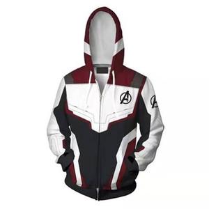 Avengers 4 Endgame Kuantum Diyar 3D Baskı Hoodies Süper kahraman hoodies Erkek kadın Fermuar Tişörtü Ceket Cosplay Kostüm
