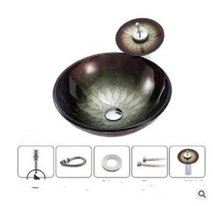 2020 caliente venta de baño Fregaderos ventas directas de los fabricantes de vidrio baño lavabo del arte europeo y americano Real lavabo BB2