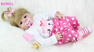 BZDOLL Full Body silicone Réincarné fille poupée bébé jouets nouveau-nés Princesse bébés Doll Belle cadeau d'anniversaire enfant MX191030 Présent