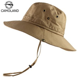 CAMOLAND UPF 50+ Sun Hat For Women Men Lightweight Bucket Hat Wide Brim UV Protection Fishing Cap Male Breathable Beach Caps