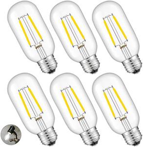 2W LED 관 전구 4000K 일광 흰 빛, 25W 상당 250LM E26 자료, 골동품 에디슨 T45 튜브 투명 유리 디 밍이 가능한 샹들리에 Ceilin