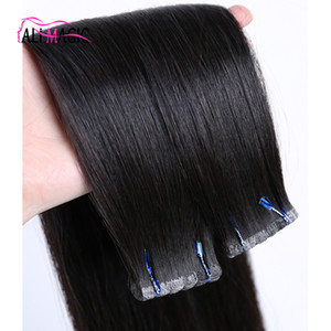 """Invisible Remy Tape In Human Hair Extensions Skin Weft Tape Hair Extensions Back Brown Blonde 100g 40pcs Indian Brazilian Virgin Hair 14-28"""""""