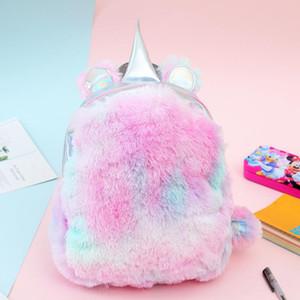 Designer Luxury Backpacks Autumn and Winter Plush Girls Shoulder Bag Color Student Bag Travel Fur Students Mini Bag Hot Sale New