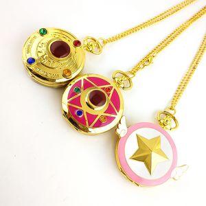 Soldier Beautiful Girl Wing Taschenuhr Angel Wing Hundert Diminish Sakura Pocket Watch