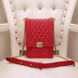 Nueva moda bolsa de mensajero del cuero Boutique calidad buena cadena de gran capacidad señoras Blanca, Dan Ji Número: 8