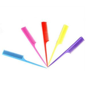 Kadın Multicolor için Aracı yukarı Sıcak satış Plastik Peine Saç Tarak Isı Direnci İnce diş Kozmetik Kuyruk Tarak yap