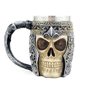 3D 해골 머그컵 커피 잔 맥주 우유 컵 큰 컵은 해골 전사 참신 Caneca 할로윈 장식 눈에 띄는