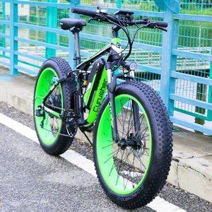 "YENİ 26"" Motorlu Max Çıktı 1500W Fat Tire Elektrikli Bisiklet Dağ Bisikleti"