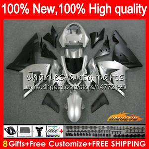 ОРГАН ДЛЯ Кавасаки ZX10R серебристом черный ZX 1000 CC ZX 10 R 04 05 кузовного 43HC.52 ZX1000CC 1000cc ZX 10R ZX10R 04 05 2004 2005 Полных обтекателей