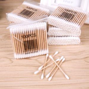 2020 new Wooden Handle Cotton Swab Makeup Applicator Ear Jewelry Clean Beauty Makeup