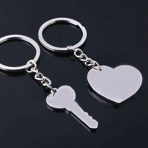 Kalp Anahtarlık Gümüş Mektubu Seni Seviyorum Çift Anahtar Kalp Şekli Çinko Alaşım Anahtarlık Takı sevgililer Günü Hediyesi LJJJ47