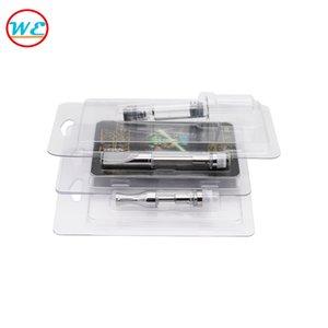Лучший ПЭТ раскладушка блистерная упаковка для 0.5 мл 1.0 мл Vape pen картридж 92A3 стекло атомайзер G2 CE3 испаритель картриджи упаковка