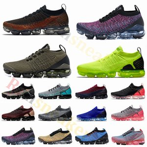 2.0 Fly 3.0 Knit Scarpe da corsa Cool Grey Tiger Volt Purple Mens Scarpe da ginnastica Donne Designer Cuscino Sneakers Scarpe sportive Taglia 5,5-12