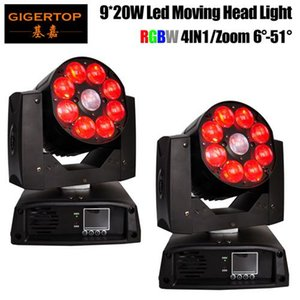 Gigertop 2 Unités Led 9x20w RGBW 4in1 Moving Head Light Professional Dj / Bar / Party / Show Zoom 6 -51 degrés Grand Angle