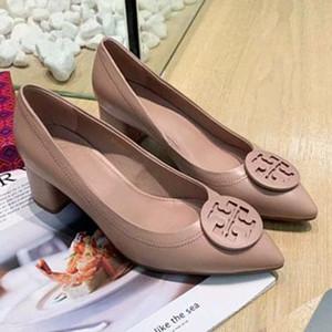 Yepyeni bayanlar yüksek topuklu ayakkabılar bayanlar kuzu derisi topuk 5.5 cm yüksek kaliteli ayakkabı pompaları! Po11171