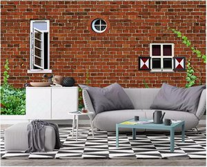3d wallpaper custom photo mural Retro brick wall architecture Nordic background wall background painting 3d wall murals wallpaper home decor