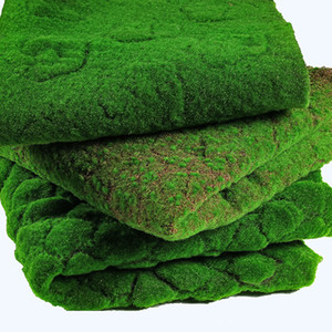 Mağaza Ev Patio Dekorasyon Greenery için 100 * 100cm Yapay Moss Sahte Yeşil Bitkiler Mat Sahte Moss Duvar Çim Çim