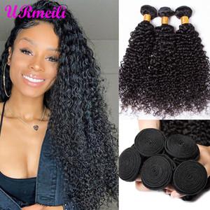 Virgin dei capelli umani Weave Bundles estensioni 1B ricci fasci di capelli umani Kinky Capelli ricci Bundles brasiliani non trattati pre-colorato