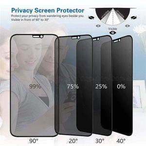 9H d'intimité Verre trempé pour iPhone X XS MAX XR 6 8 Plus 11 Pro Max Anti Spy Protection d'écran haute définition