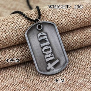 Fashion Christian Jewelry God Necklace Joshua Be Strong And Courageous Bible Verse Scripture Letter Bold Brand Pendant Chain