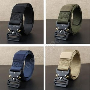 Outdoor 3.8CM Quick Release Buckle Belt Quick Dry Safety Belt Training Pure Nylon Tactical Belt Alloy Buckle Waistband ZZA700