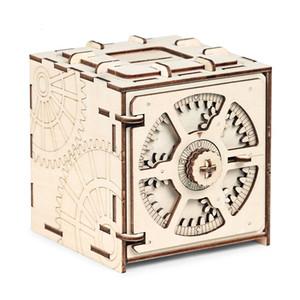 كود الشفرة صندوق الإيداع 3D الألغاز الميكانيكية خشبية نموذج لغز ألعاب تعليمية الجمعية وخطوات خياطة مفصلة SH190911