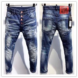 2020 Новый бренд модной европейских и американских мужчин случайные джинсы, стирка высокосортного, чисто ручной шлифовки, оптимизация качества DA337