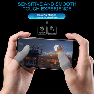 2 pz Alveare A Prova di sonno a prova di sudore professionale Touch Screen pollici Finger Sleeve per Pubg Gioco Del Telefono Mobile Gaming Guanti