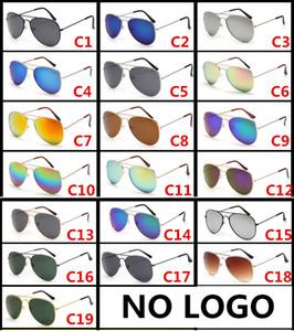 Clásicos piloto de 30256 mujeres del hombre gafas de sol de las lentes del diseñador de moda gafas de marco de metal marca retro al por mayor 19 del color no logo