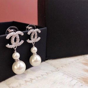 2020 Double Gourd Earrings Size Pearl Very Beautiful Earrings Counter Consistent Brass Material Sterling Silver Pin Earrings Supply